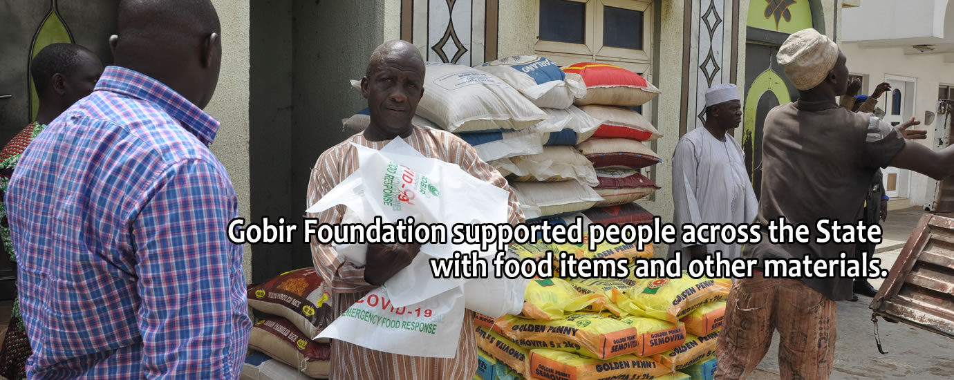 During the stay at home order, Gobir Foundation 2