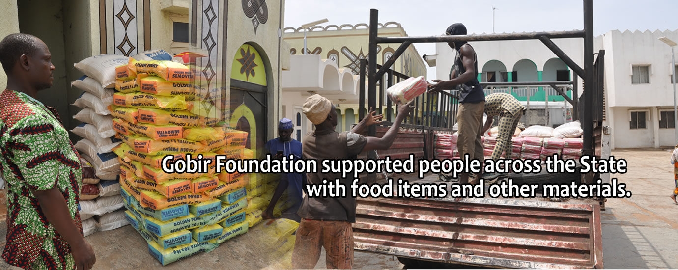 During the stay at home order, Gobir Foundation 4