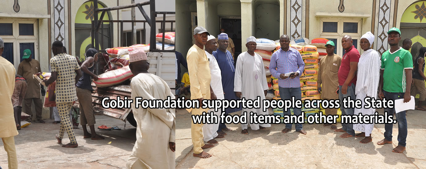 During the stay at home order, Gobir Foundation 5